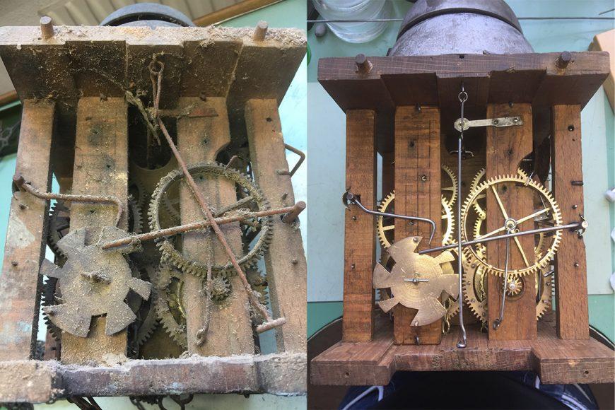 Restauration einer Schwarzwälderuhr